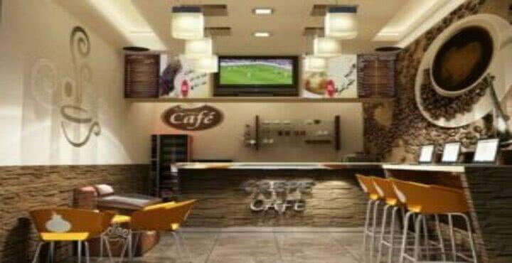 تصميم كافيه داخلي indoor crepe cafe / antiq cafe
