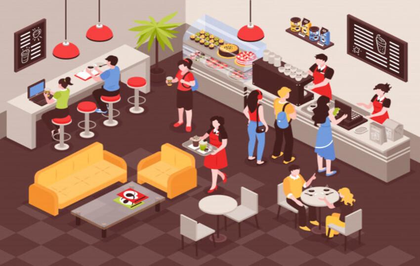 تصميم ديكور المطاعم والكافيهات
